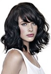 coiffeuse à domicile nice coloration cheveux mis longs noir corbeau