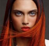 coiffeuse à domicile nice coloration cheveux longs rouge vif
